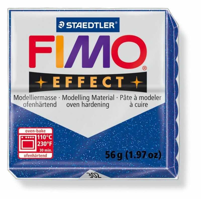 Masa plastyczna FIMO Effect 57g 810122 810511, Kolor masy: Niebieska błyszcząca