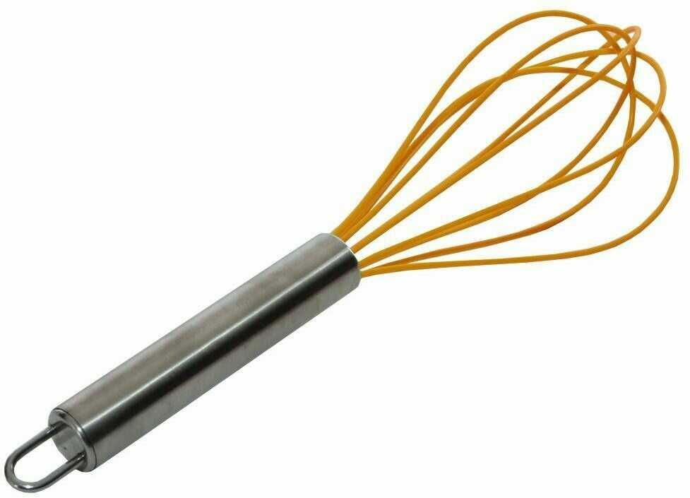 Trzepaczka silikonowa, ubijaczka, ubijak do jajek, ciasta, sosu, 25 cm
