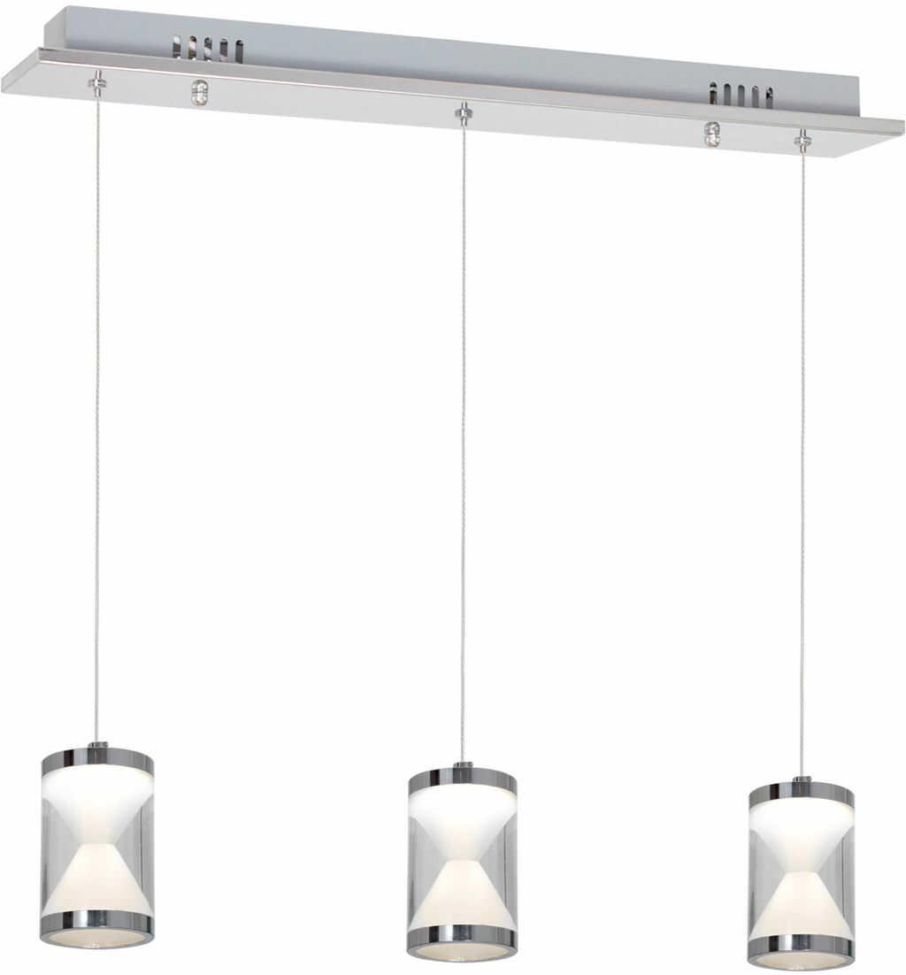 Milagro TIEMPO ML423 lampa wisząca metalowa akryl chrom regulacja wysokości klosz przypomina klepsydrę z przesypującym się piaskiem 15W LED 47cm