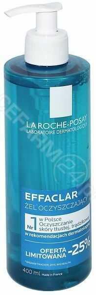 La Roche-Posay Effaclar oczyszczający żel do skóry tłustej 400 ml