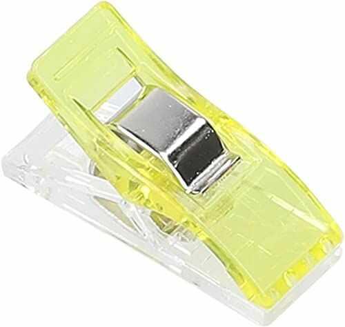 mumbi 30703 klamerki do materiału, tworzywo sztuczne, żółte, 50 sztuk