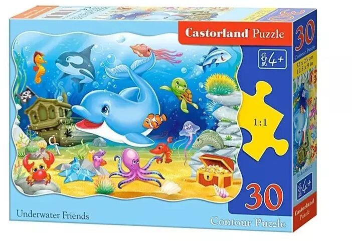 Puzzle 30 Podwodni przyjaciele CASTOR - Castorland
