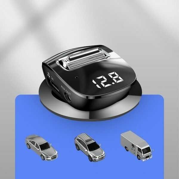 Baseus Streamer F40 Transmiter FM Bluetooth Ładowarka samochodowa 2x USB AUX