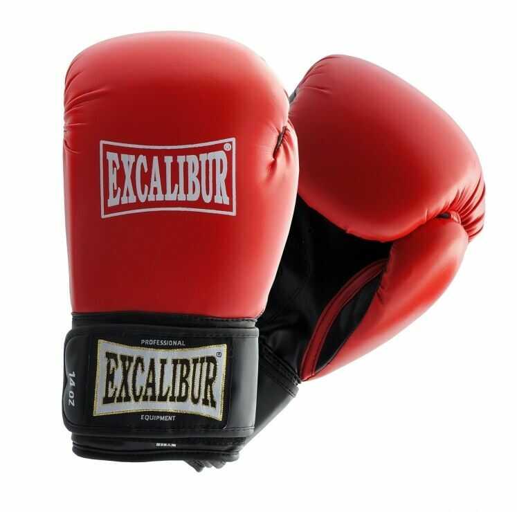 8 oz Rękawice bokserskie Excalibur Spike treningowe zapinane na rzep Maxxus stabilizacja kciuka