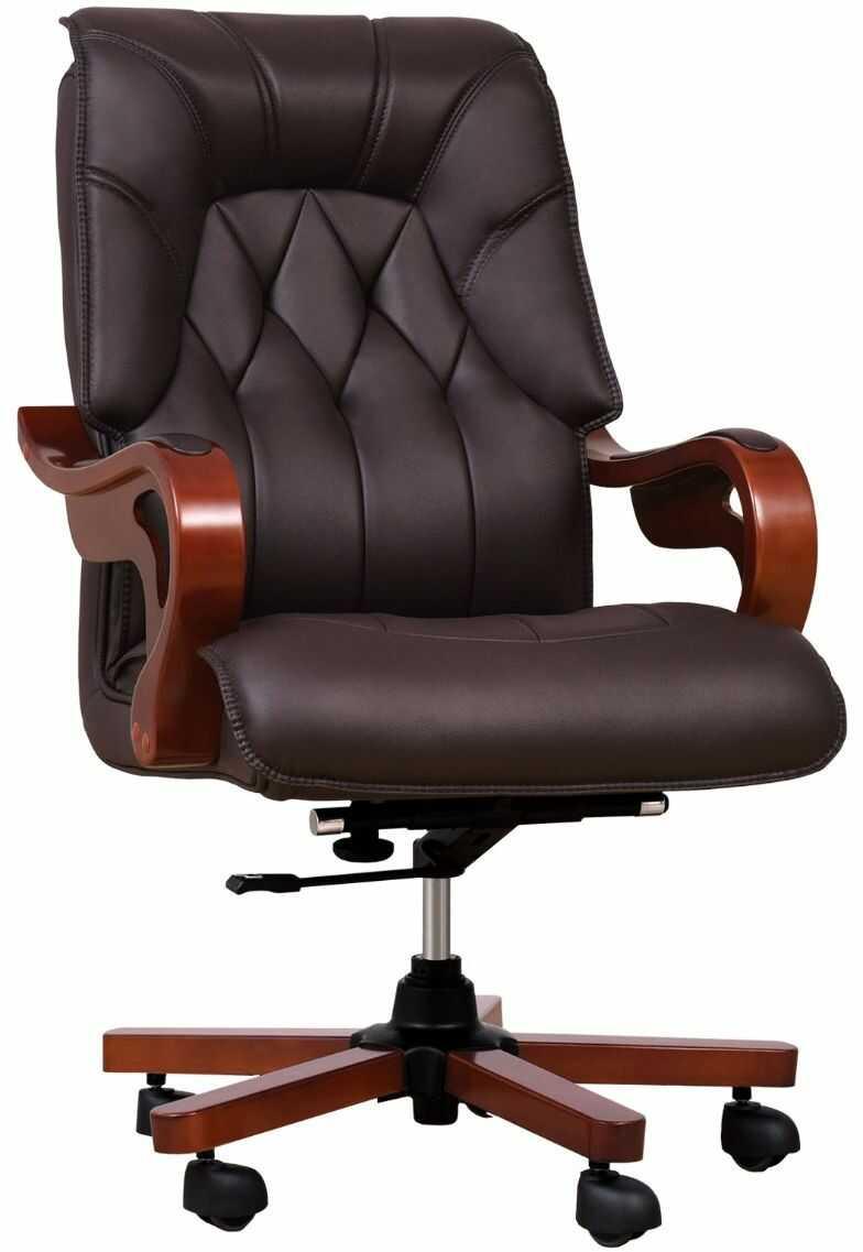Fotel skórzany MAKLER brązowy
