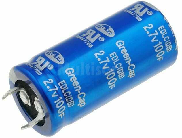 Kondensator elektrolityczny SAMWHA SNAP-IN 100F 2,7V O22x45mm