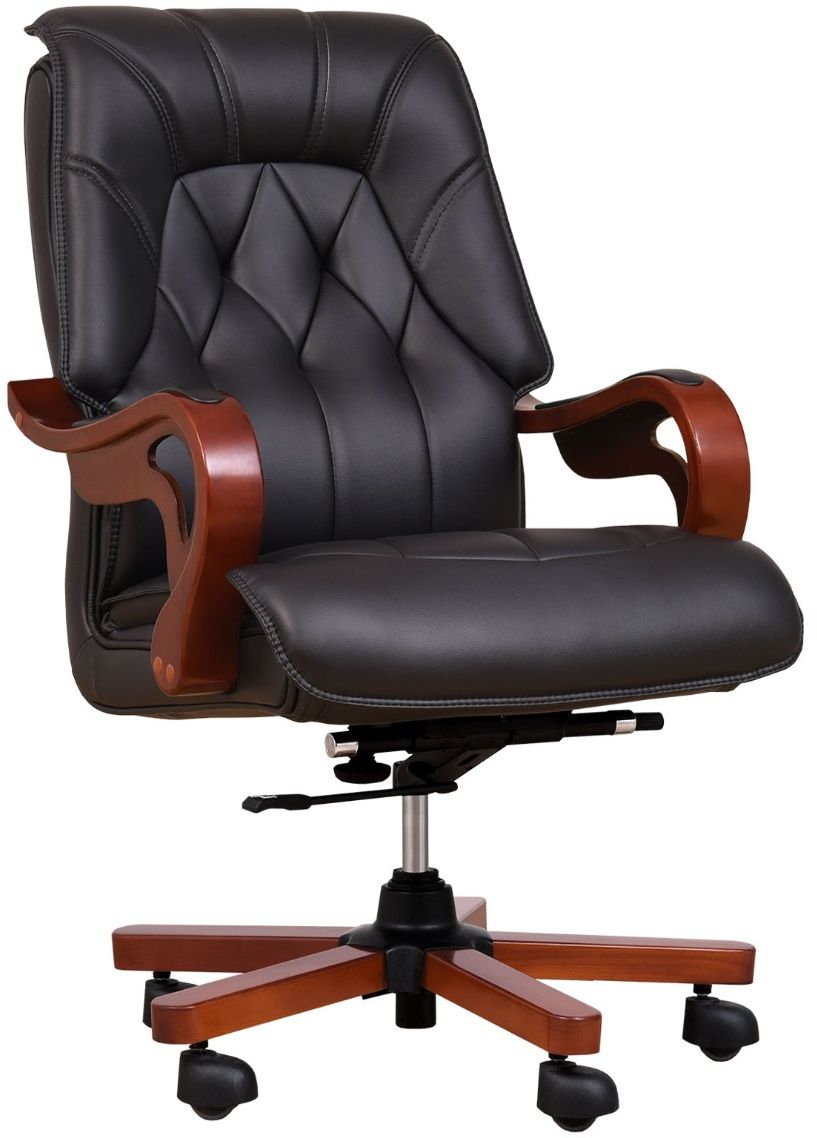 Fotel skórzany MAKLER czarny