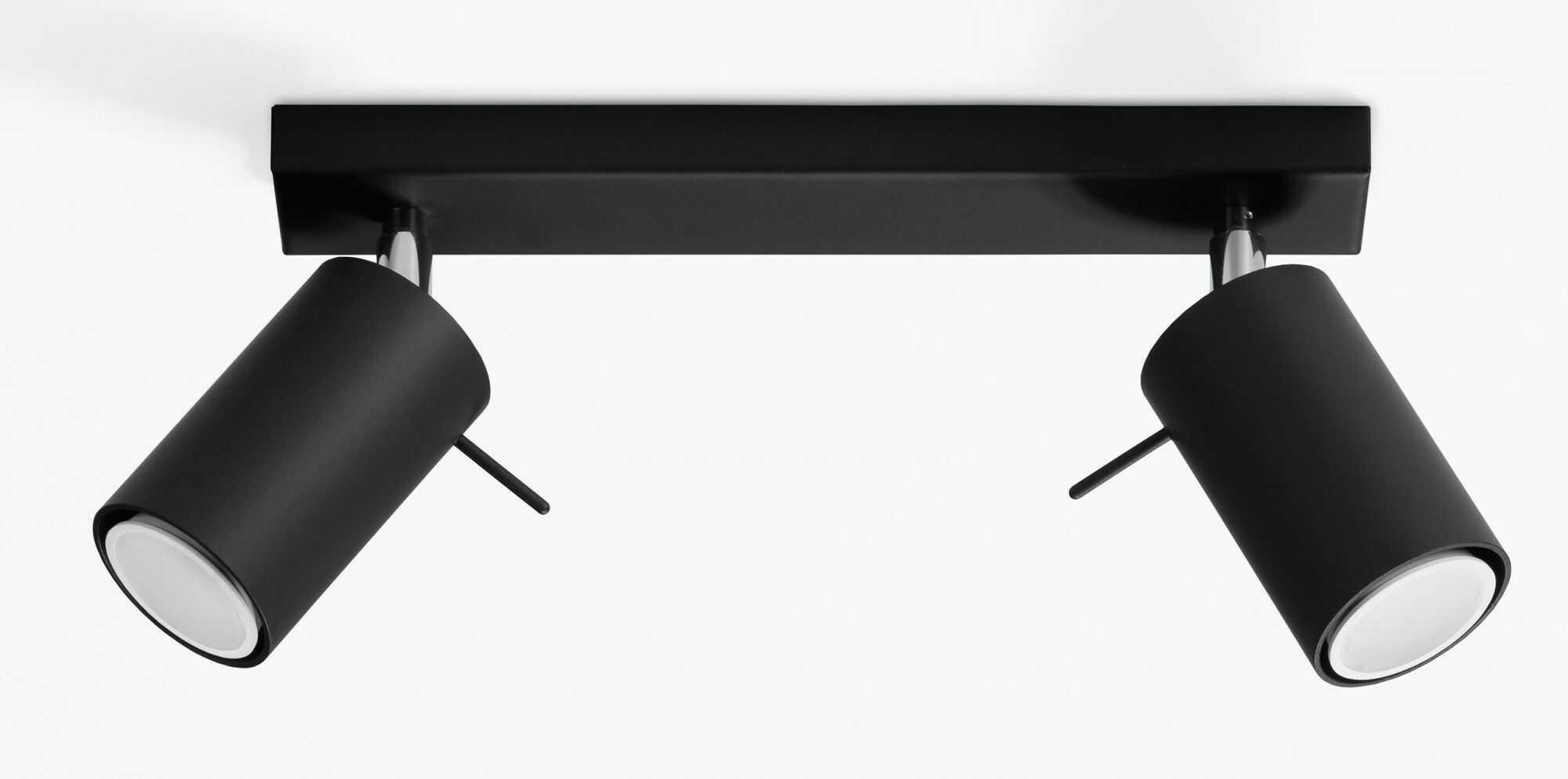 Halogenowy plafon LED E782-Rins - czarny