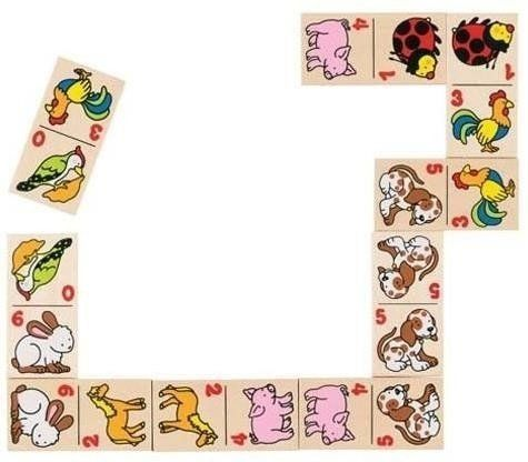 Domino drewniane - Zwierzątka - Goki
