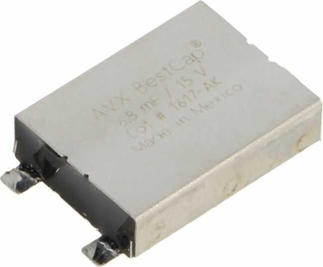 Kondensator elektrolityczny AVX superkondensator 0,0068F 15V
