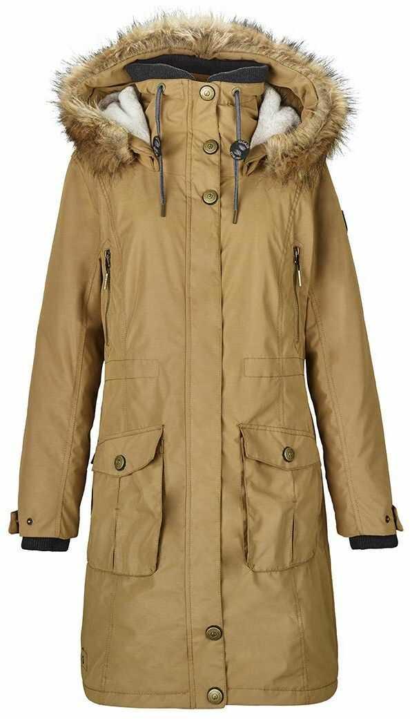 G.I.G.A. DX Dokama damska kurtka funkcyjna/parka/zimowy płaszcz z odpinanym kapturem, słup wody 8000 mm, kolor morelowy, 44