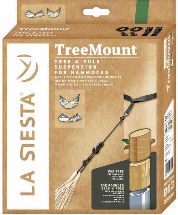 Zestaw mocujący do hamaka TreeMount Black, czarny TMF45-9