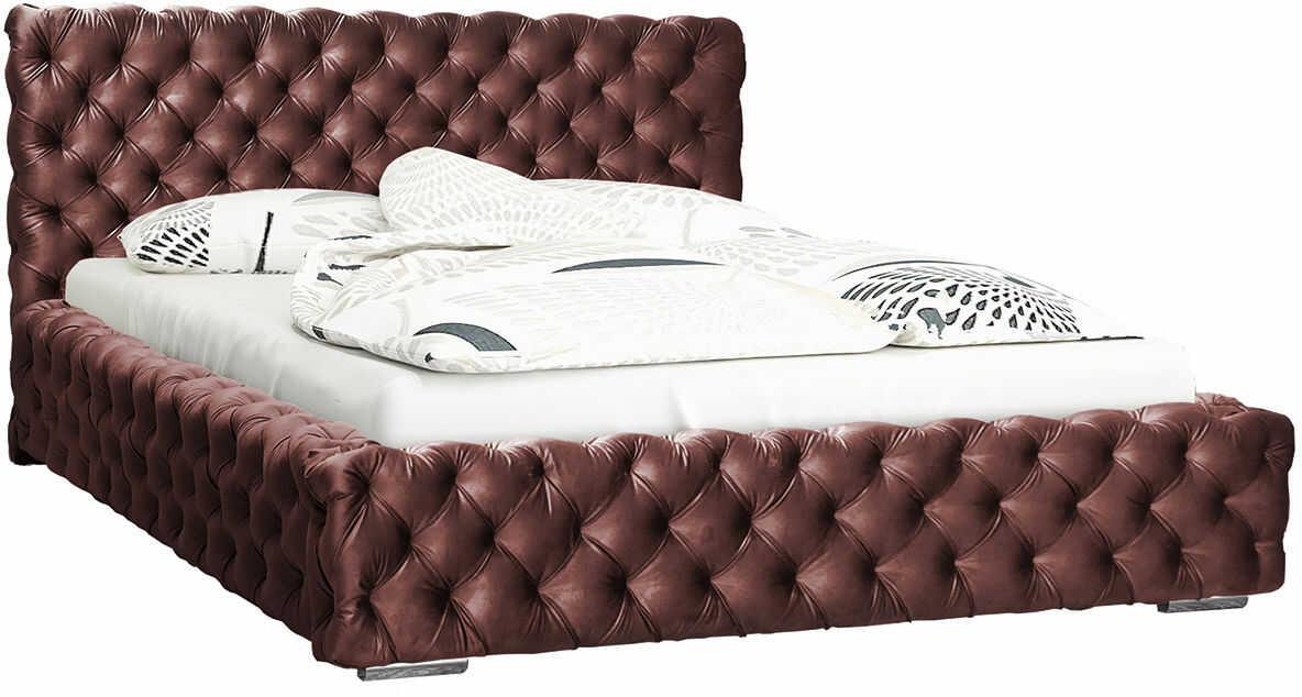 Łóżko pikowane ze schowkiem 160x200 Sari 2X - 48 kolorów