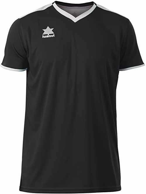 Luanvi Męski T-shirt Match z krótkimi rękawami. czarny czarny M