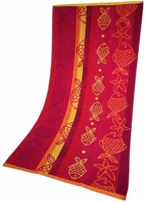 Ręcznik Plażowy Rybki Różowy 70x140 Greno 70 x 140