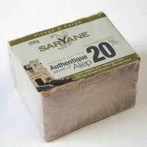 Tradycyjne mydło Aleppo 200g - 20% oleju laurowego, 80% oliwy z oliwek Saryane