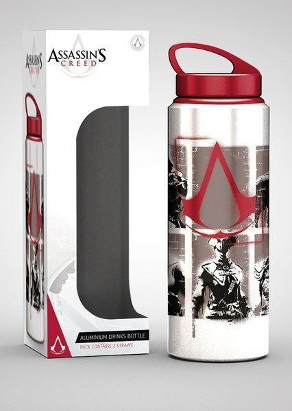 Assassins creed stencil - aluminiowa butelka, kubek
