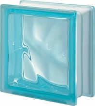 Pustak szklany Q 19 Aquamarina O luksfer 19x19x8 cm