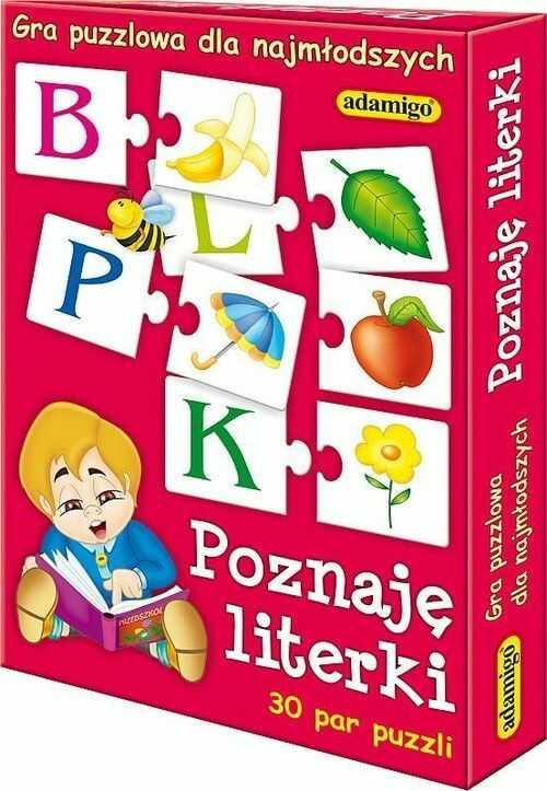 Poznaję literki Gra puzzlowa ZAKŁADKA DO KSIĄŻEK GRATIS DO KAŻDEGO ZAMÓWIENIA