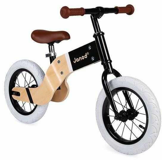 Janod - Drewniany rowerek biegowy Bikloon Deluxe 3+ lat