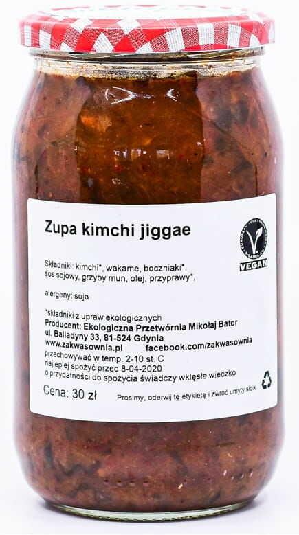 Zupa kimchi klasyczna bio 900 ml - zakwasownia