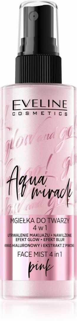 EVELINE KOLOROWKA Eveline Glow and Go! Aqua Miracle Mgiełka utrwalająca do twarzy 4w1 nr 02 pink 110ml