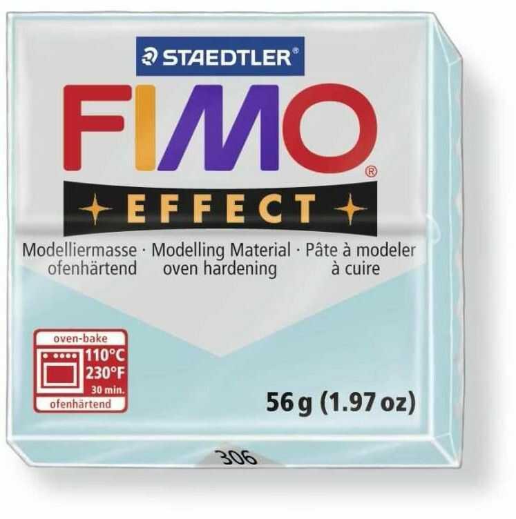 Masa plastyczna FIMO Effect 57g 810320 802205, Kolor masy: Błękitna kryształowa