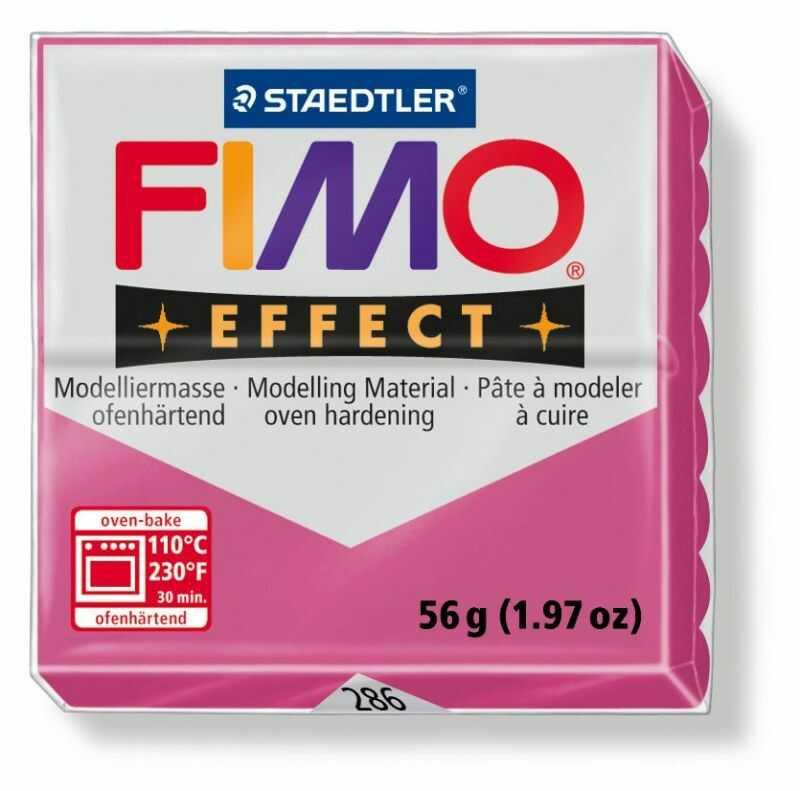 Masa plastyczna FIMO Effect 57g 802205 802267, Kolor masy: Rubinowa