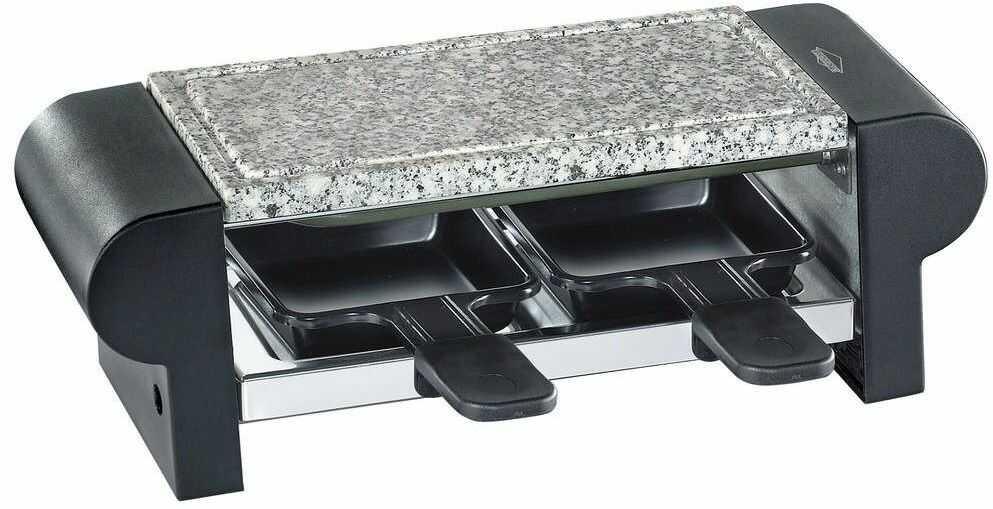 Kuchenprofi - hot stone duo - raclette / grill stołowy, dla 2 osób, czarny
