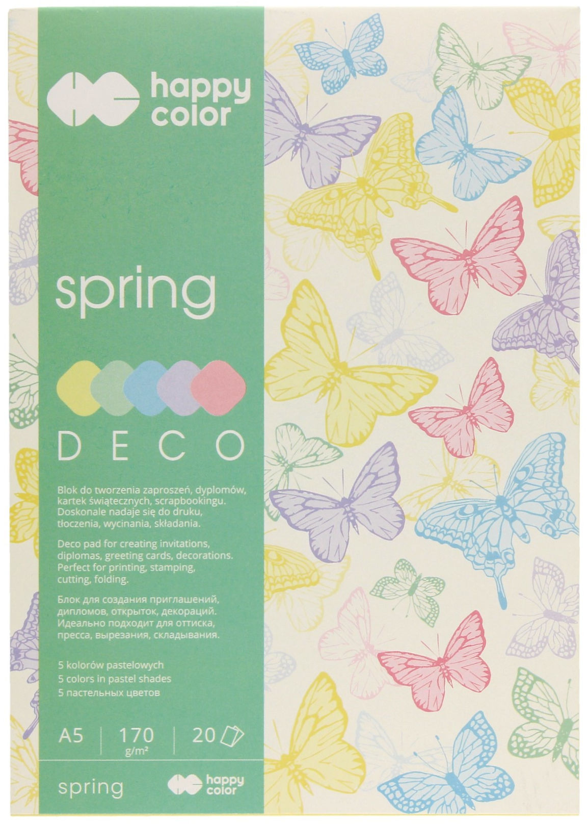 Blok A5/20 5kol 170g Happy Color Deco Spring