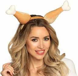 Boland 99944  opaska do włosów kurczaka, tiara, udka kurczaka, rzeźnik, nakrycie głowy, kostium karnawałowy, impreza tematyczna
