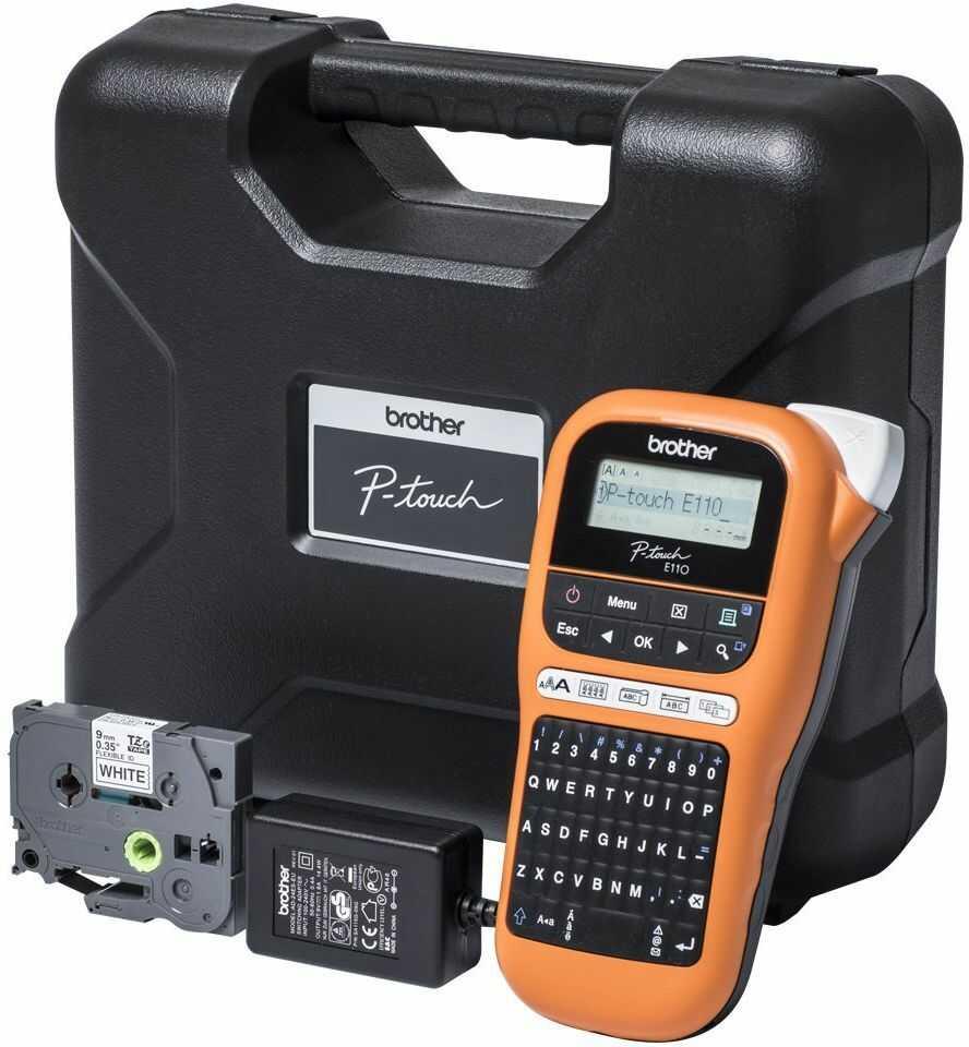 Drukarka etykiet Brother PT-E110VP zestaw z walizką KUP z zamiennikami i oszczędzaj! - ZADZWOŃ 730 811 399