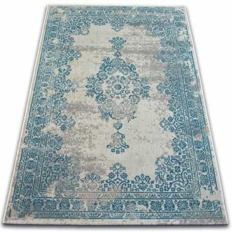 Dywan Vintage Rozeta 22206/064 turkus / szary 80x150 cm