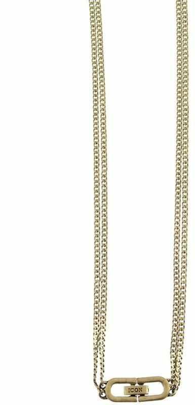 Biżuteria uniwersalne Icon Brand Jewellery Double Curb Necklace P1488-N-GLD