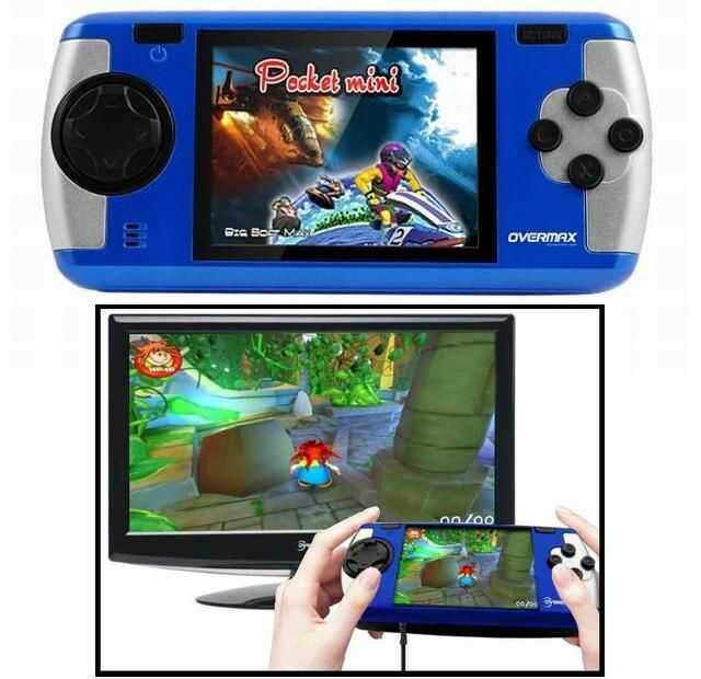 Przenośna Oryginalna Konsola do Gier OVERMAX BASIC PLAYER (200 gier!) z LCD 2,5+ Współpraca z RTV.
