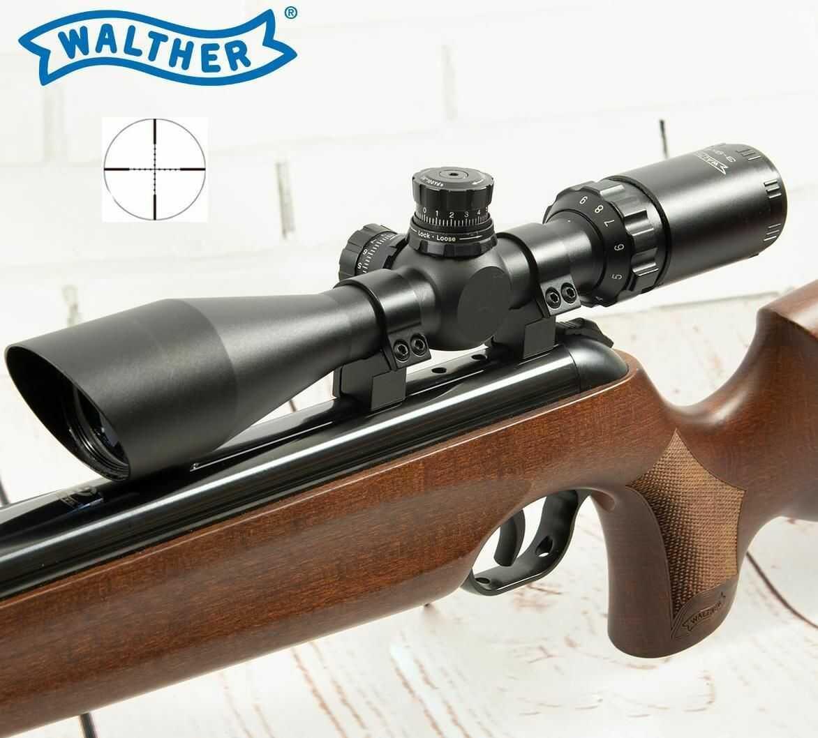 Profesjonalna Luneta Celownicza (do wiatrówek...) Walther 3-9x44 + Montaż + Nakładki na Obiektywy.