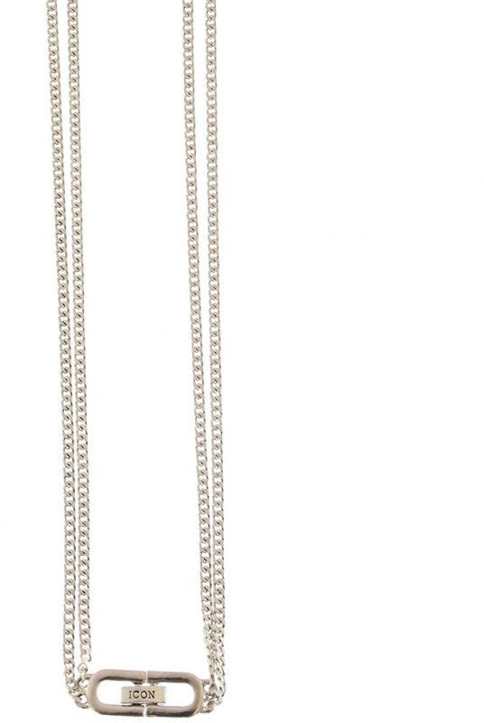 Biżuteria uniwersalne Icon Brand Jewellery Double Curb Necklace P1488-N-SIL