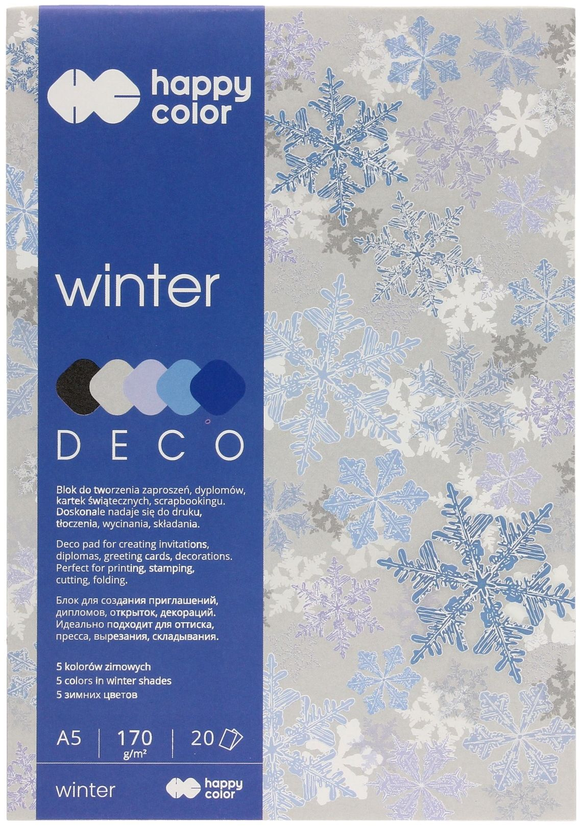 Blok A5/20 5kol 170g Happy Color Deco Winter