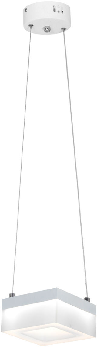 Milagro CUBO ML444 lampa wisząca metal biała klosz kwadratowy 12W LED 4000K 12cm