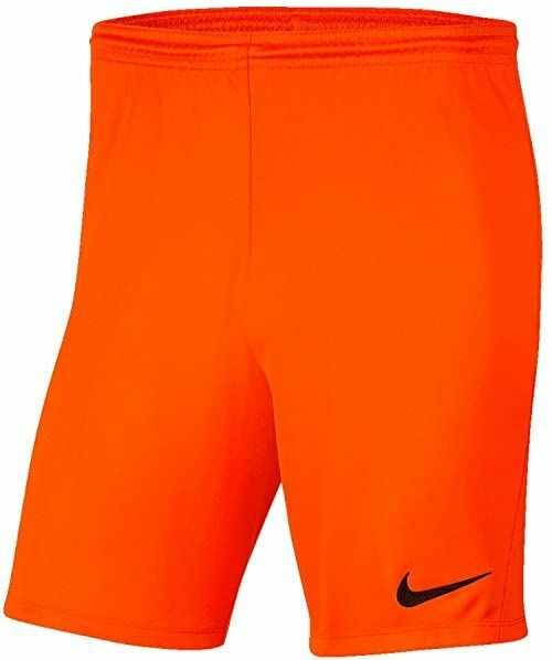 Nike Krótkie spodenki uniseks Park Iii Nb Safety Orange/Black XL