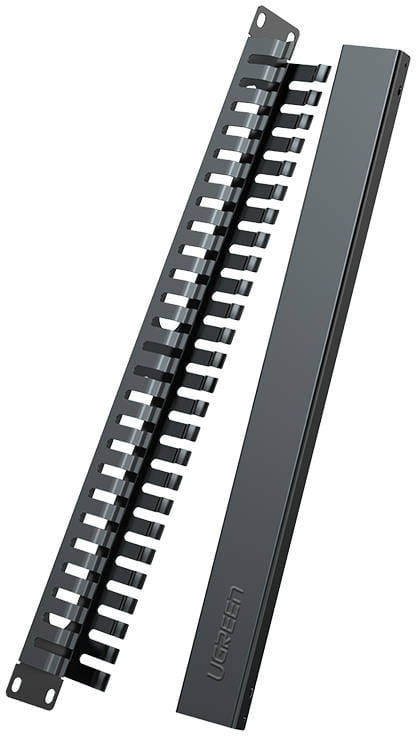 Organizator kabli Ethernet UGREEN NW128 do szaf rack 19U, 24-portowy