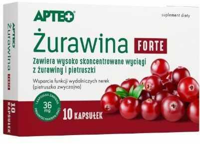 Apteo Żurawina Forte 10 kapsułek