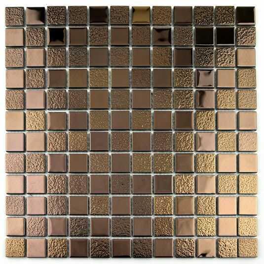 MIDAS - Mozaika szklana różowe złoto 4mm A-MGL04-XX-035