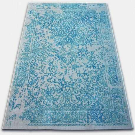 Dywan Vintage 22208/054 turkus / krem rozeta klasyczny 80x150 cm