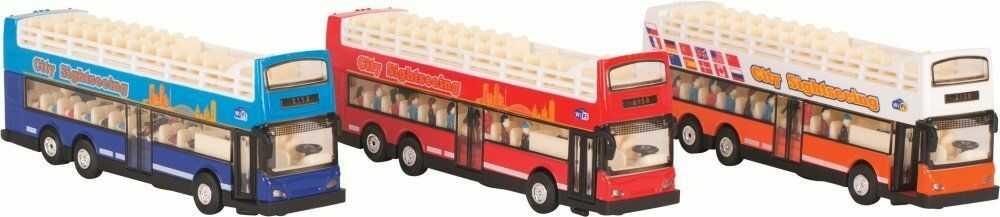 Metalowy model z napędem światłem dźwiękiem Autobus widokowy ATT 12266-Gollnest&Kiesel, samochody dla dzieci