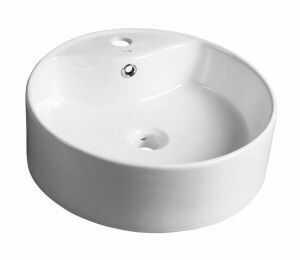 YAKARTA Umywalka ceramiczna nablatowa, okrągła 46x15,5 cm BH7021