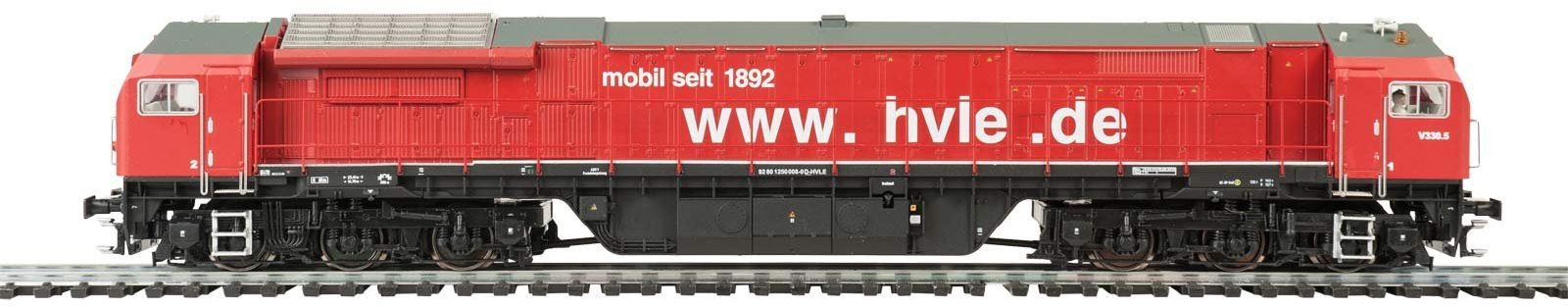 MEHANO 58931 HVLE new red-DC Diesel Blue Tiger 2, pomarańczowy i srebrny, H0