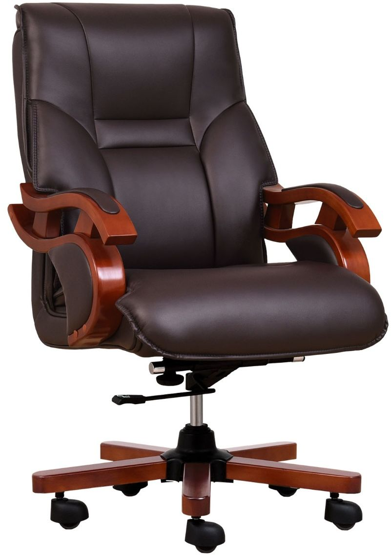 Fotel skórzany MANAGER brązowy