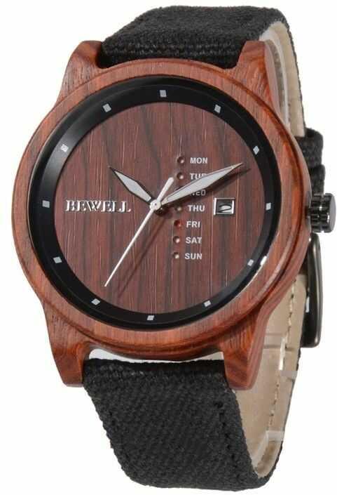 Drewniany zegarek Bewell ZS-W156A