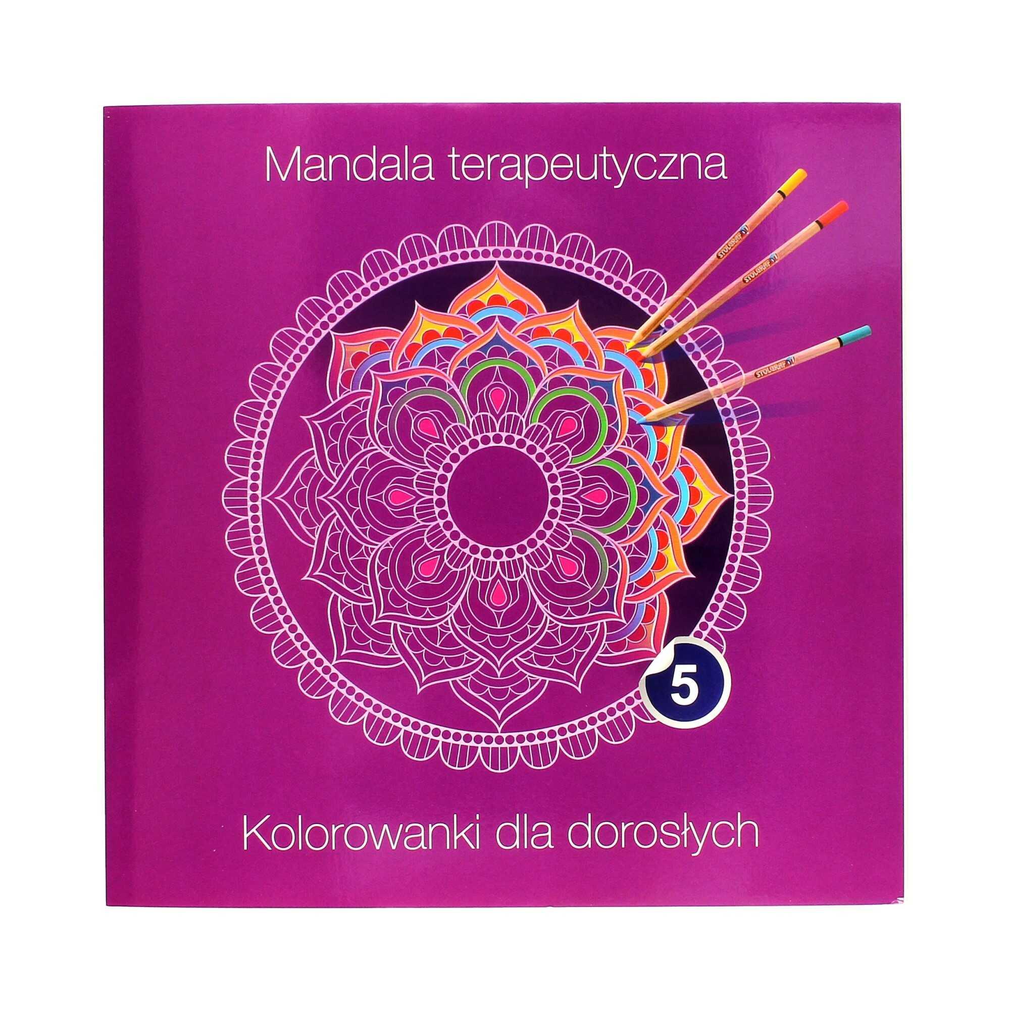 Kolorowanka terapeutyczna dla dorosłych fioletowa Mandala